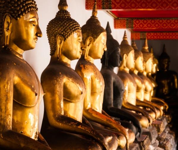 Statues in Thailand by Lori Allen