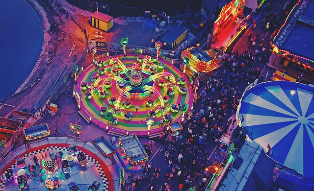 Festival from drone camera